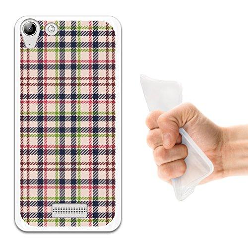 WoowCase Wiko Selfy 4G Hülle, Handyhülle Silikon für [ Wiko Selfy 4G ] Quadratische Druckschottenkaro und Linien Handytasche Handy Cover Case Schutzhülle Flexible TPU - Transparent