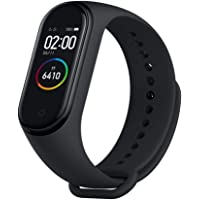 TECCIE™ M4 Digital Fitness Smart Band Watch for Boys/Girls/Kids/Men/Women | LED Colour Display Watches| Wireless Bluetooth| Compatible with Android and iOS |Heart Rate, BP, Calories Tracker (Black)