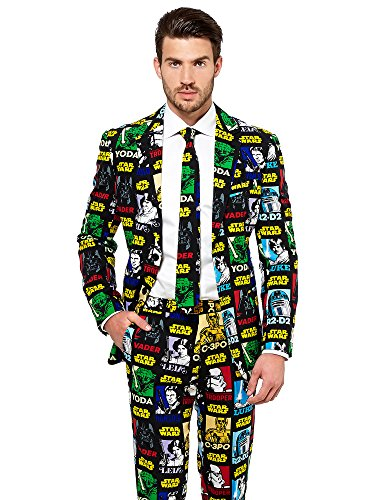 Opposuits Official STAR WARSTM Suit - Strong Force Costume Comes With Pants, Jacket and Tie, Strong ForceTM, 52