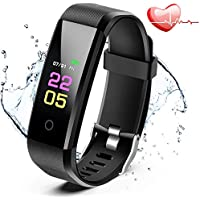 ANCwear Fitness Trackers- Activity Tracker Watch with Heart Rate Blood Pressure Monitor, Waterproof Watch with Sleep Monitor, Calorie Step Counter Watch for kids Women Men Compatible Android iPhone Smartphone