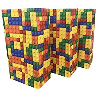 Building Blocks / Bricks Pick n Mix Bag ~ Party Candy Sweet Bags for Party Fillers - Please note this is not a Lego product (20 Bags)