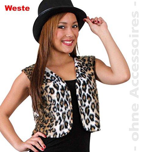 Erwachsene Katze Kostüm Für Wilde - Unbekannt Leopard Damen Kostüm Wild Cat Raubtier Katzen Weste Damenkostüm