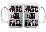 Gamer Quote Adc or FEED Characters 11 Oz. Custom Made Mug
