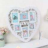 Bilderrahmen*6 Zoll Bilderrahmen in Herzform Wand Foto rahmen Foto Wand kreative Geschenke, Blumen-förmigen Rahmen Anzahl 60 X 55 CM