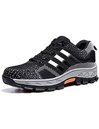 Reebok travail Ib1032S343Excel lumière Athletic Chaussures de sécurité à chaussures, Aluminium orteils, Micro Fibre Upper, taille 43, Noir