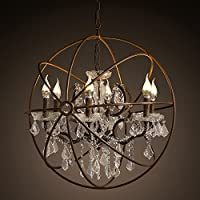 BBSLT Paese americano Crystal terra Villa rotonda living room bar decorato lampadario lampadario di personalità creative 700*700mm , bianco