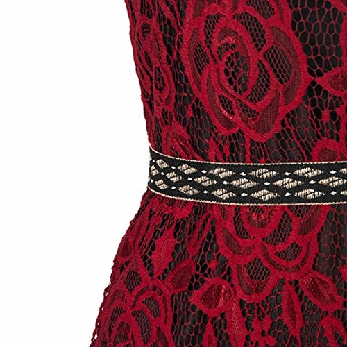 Frauen Halter Schlauch rot prom lange Cocktail Party Kleid Abend Brautjungfer Kleid Rotwein