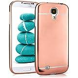 Caso suave para Samsung Galaxy S4 | Funda de silicona con efecto metálico mate | Protección de celda fina bolsa de OneFlow | Backcover en Rose-Gold