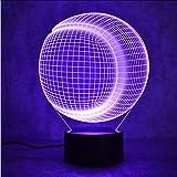 Zlxzlx 3D Usb Led Colorido Luces De La Noche De Béisbol Lámpara De Softbol Niños Dormitorio Lámpara De Mesita De Noche Sueño Iluminación Regalos
