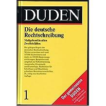 Duden: Die deutsche Rechtschreibung, Band 1