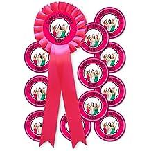 Juego de rosetón personalizable para despedida de soltera, 11 insignias