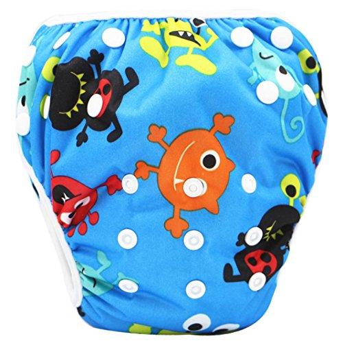 sunnymi 0-3 Jahre Baby Jungen Schwimmbekleidung Eule Tier Dicht Schwimmhose Unisex (6, for 0-3T baby)