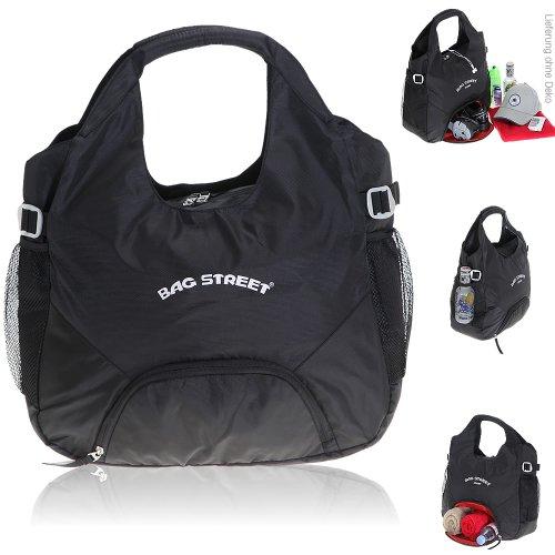 BAG STREET Sportshopper Sporttasche Shopper mit Schuhfach / Schwarz