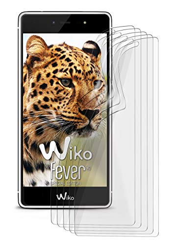 5X Wiko Fever SE   Schutzfolie Matt Bildschirm Schutz [Anti-Reflex] Screen Protector Fingerprint Handy-Folie Matte Bildschirmschutz-Folie für Wiko Fever Special Edition Bildschirmfolie