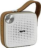 IMPERIAL BAS 4 mobiler Bluetooth Lautsprecher Musikbox mit UKW Radio (Bluetooth 4.0, 4 Watt, Aux, microSD) Weiss/braun
