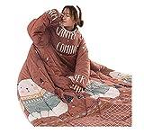 Hniunew Quilt Kleidung Freizeitdecke Kuscheldecke Duvet Cover Set Soft Bedding Core, Herbst Und Winter Verdickte Warme Geschenk Quilt Tagesdecke Baumwolle BettüBerwurf Steppdecke Bettdecke