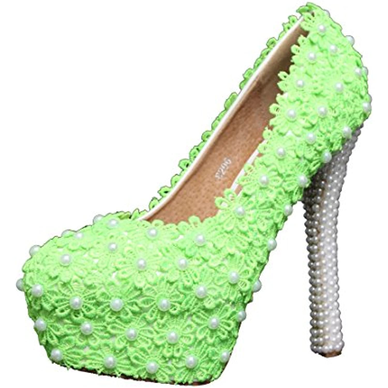 Miyoopark femme , Semelle compensée femme Miyoopark - Vert - Green-14cm Heel, 35 - B01JZAIM8C - b786c6
