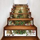 de Noël Autocollant d'escalier Papier Peint décorations - Christmas decoration diy stairs stickers wall stickers