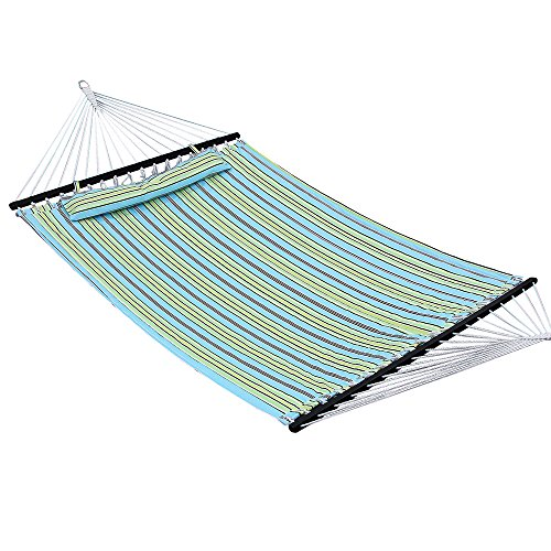 Songmics amaca 200 x 140 cm dondolo in tessuto da campeggio giardino portatile telo imbottente carico max. 225 kg gdc34q