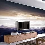 BIZHIGE Grandes Peintures Murales Personnalisées 3D Nuages Secnery Massif 3D Photo Murale Papier Peint pour Salon TV Fond 3D Murale Murale Fresque, 275 × 235 Cm