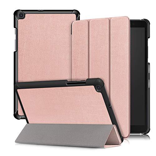 Xuanbeier Custodia Ultra Sottile Compatibile con Samsung Galaxy Tab A 8.0 SM - T290 T295, Custodia da Appoggio per Galaxy Tab A Versione da 8 Pollici 2019,Oro Rosa