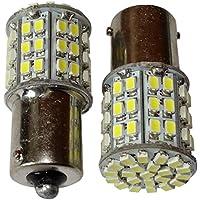 AERZETIX: 2 x Bombillas 24V P21W R10W R5W 64LED SMD blanco para camion semirremolque puerta de garaje portal