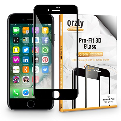 Protector de Pantalla iPhone 7 Plus, 3D Pro-Fit Protector de Prima de