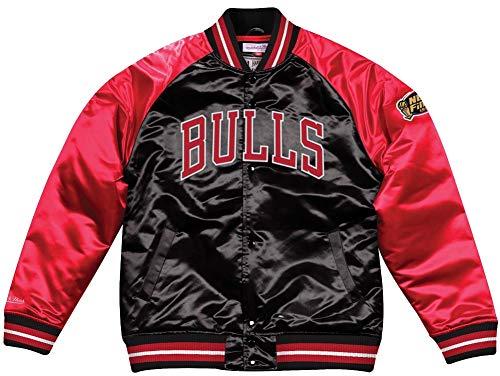 more photos 659be 1c5a4 Mitchell & Ness Though Season Satin Chicago Bulls Chaqueta universitaria  Black/Red