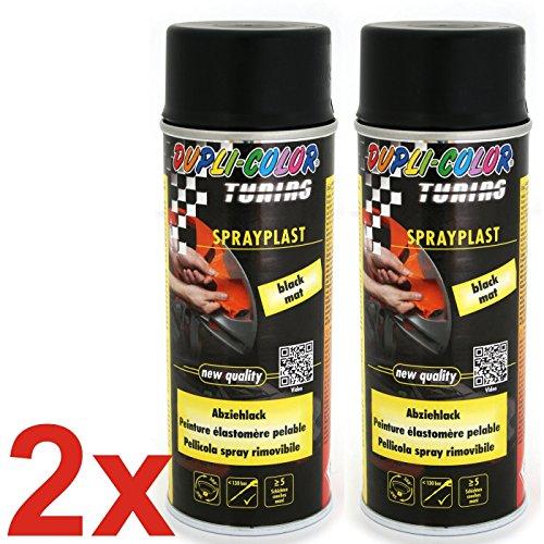 dupli color sprayplast DUPLI-COLOR Sprayplast Sprühfolie Schwarz matt 2x 400ml (1L=37,38€)