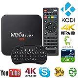 TPL MXQ Pro TV BOX mit Amlogic S905X und Quad Core 1GB RAM+8GB ROM, Android 6.0 Marshmallow, KODI 16.1, WiFi und LAN Streaming Media Player mit Mini Wireless Tastatur