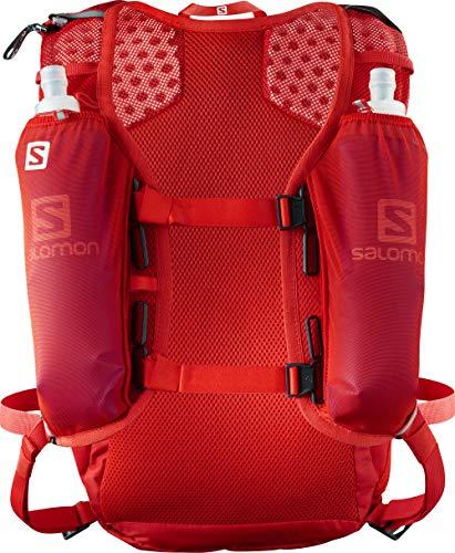 Salomon, Leichter Lauf-Rucksack 12L, AGILE 12 SET, Rot (Fiery Red), LC1092700 -
