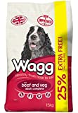 Wagg Dog Food Complete Beef and Veg Dry Mix, 12 kg plus 3 kg Free