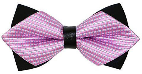 OCIA® Fliege Schleife Schlips Anzug Hemd Hochzeit Business Fasching Bunt Verstellbar Gebunden Herren Muster Mode Krawatte - FC021 Original