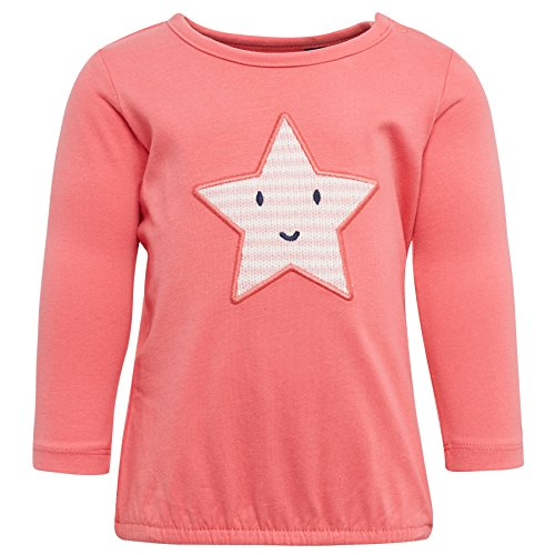 TOM TAILOR Kids Baby-Mädchen Langarmshirt Tee with Star Artwork, Rosa (Coral Flower Pink 5729), 68