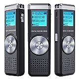 Grabador de Voz Digital, TENSAFEE 8G Grabador de Sonido de Dictáfono, Grabador de Audio HD...