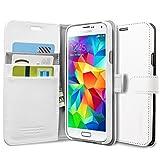 Spigen Custodia Portafoglio S per Samsung Galaxy S5, Colore Bianco (S White)