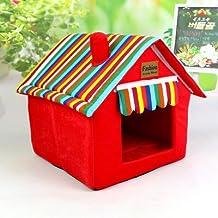 Bonita caseta para perros y gatos. Plegable. Alfombra adecuada para las cuatro estaciones y