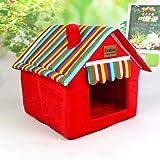 Schöne Hütte für Hunde und Katzen. Faltbar. Teppich für alle vier Jahreszeiten geeignet und waschbar. Faltbare Hütte.