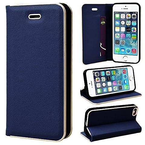 SmartLegend Smart Magnétique Coque Portefeuille en Cuir pour Apple iPhone