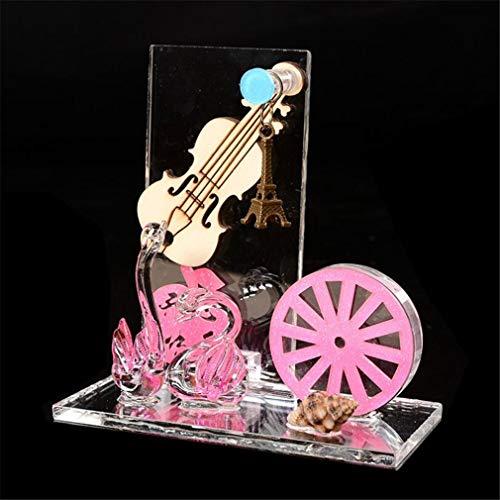 youjiu Dekorationen Windlicht Geschenke Einrad Swan Flash Glas Ornamente Kreative Eisenturm Kleine Hängende Dekoration