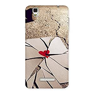 Cute Broken Heart Ace Print Back Case Cover for Yu Yureka