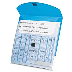 Oxford - Folder w/4 Sliding Pockets, Ltr, 100 Sht Cap, Blue, Sold as 1 Each, ESS35103