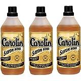 Carolin Savon Noir 1l - Lot de 3