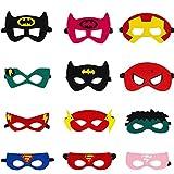 Ouinne 12 Stücke Superhelden Masken, Superhero Party Supplies Cosplay Masken Gefälligkeiten...