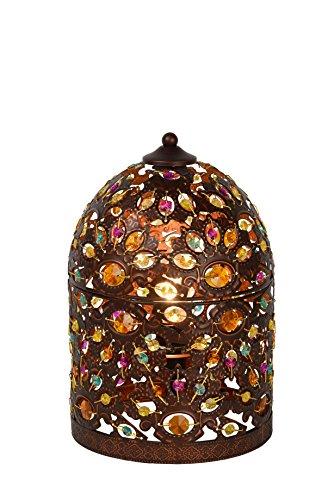 Lucide BYRSA - Lampe De Table - Ø 19 cm - Rouille