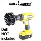 Drillbrush 4 pouces de diamètre ultra rigide en nylon Brosse à récurer Usagé...