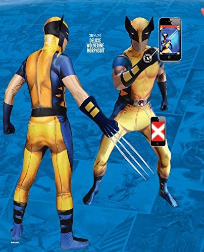 Kostüm Farben Wolverine - Offizieller Wolverine Delux Digital Morphsuit, Verkleidung, Kostüm - XXLarge - 6'2-6'9 (186cm-206cm)