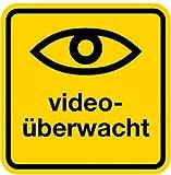 Aufkleber Videoüberwacht + Symbol Auge 50x50mm