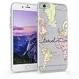 kwmobile Coque Apple iPhone 6 / 6S - Coque pour Apple iPhone 6 / 6S - Housse de téléphone en Silicone Noir-Multicolore-Transparent