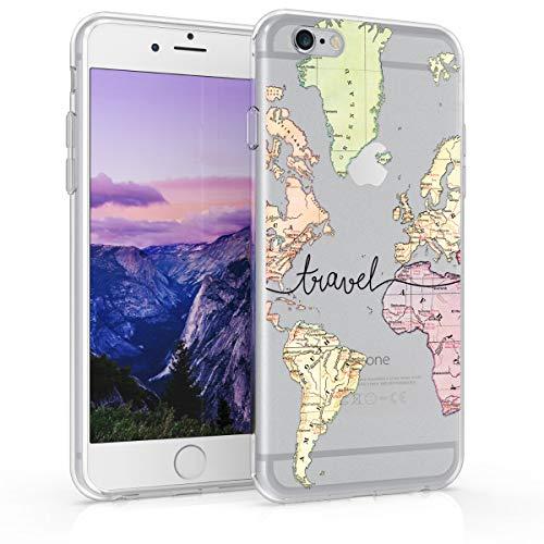 kwmobile Schutzhülle für Apple iPhone 6 / 6S - TPU Silikon Hülle - Backcover Schwarz/Mehrfarbig/transparent